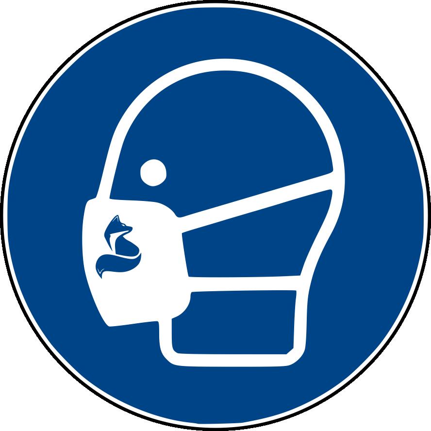 Zeichen für Maskengebot